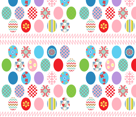Easter Eggs fabric by curlywillowco on Spoonflower - custom fabric