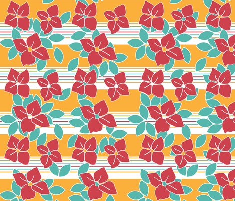 Poppy Red Flowers fabric by curlywillowco on Spoonflower - custom fabric