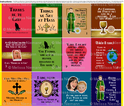 Things We Say at Mass cloth fabric quiet book for children