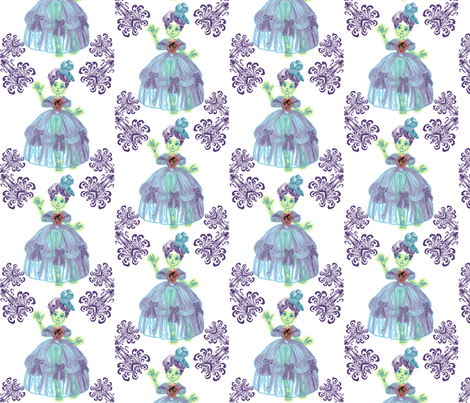 Ghostly Heart fabric by savagelystitched on Spoonflower - custom fabric