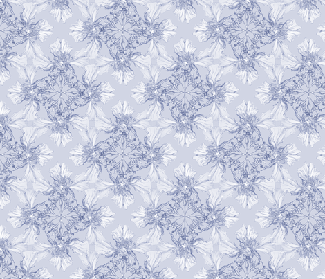 Light purple flowers fabric by petitesirene on Spoonflower - custom fabric