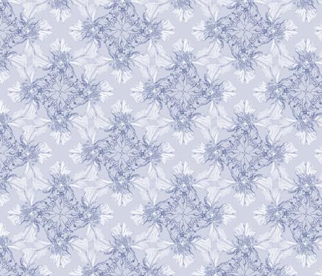 Light purple flowers fabric by petitesirene on Spoonflower - custom fabric