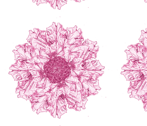 pretty pink petals  fabric by petitesirene on Spoonflower - custom fabric