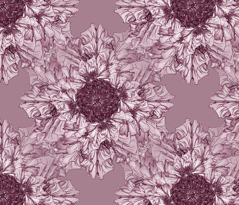 Sophisticated flowers fabric by petitesirene on Spoonflower - custom fabric