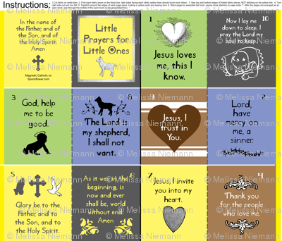 Little Prayers for Little Ones cloth quiet fabric book for church