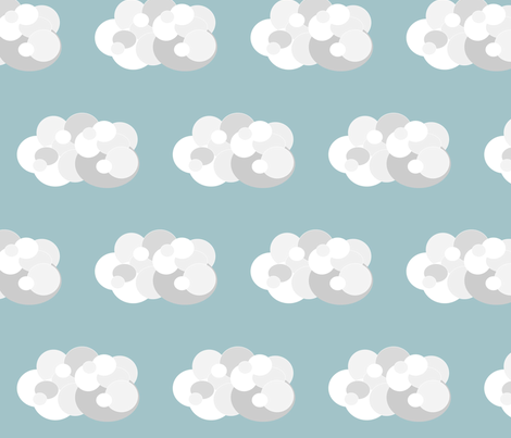 cloud fabric by chelsearabbit on Spoonflower - custom fabric