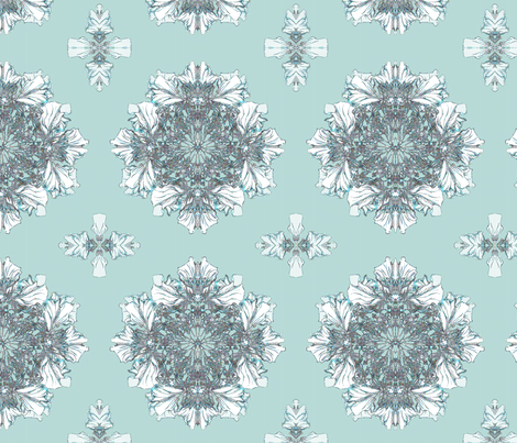 Teal dreams fabric by petitesirene on Spoonflower - custom fabric