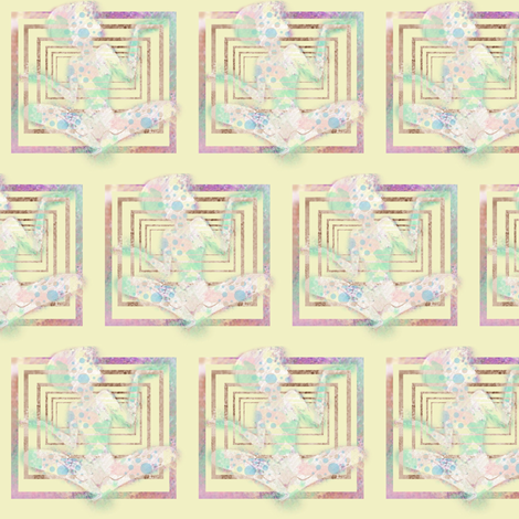 I keep my zen in a box fabric by mezzime on Spoonflower - custom fabric