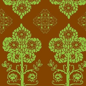 Art Nouveau20-brown/green