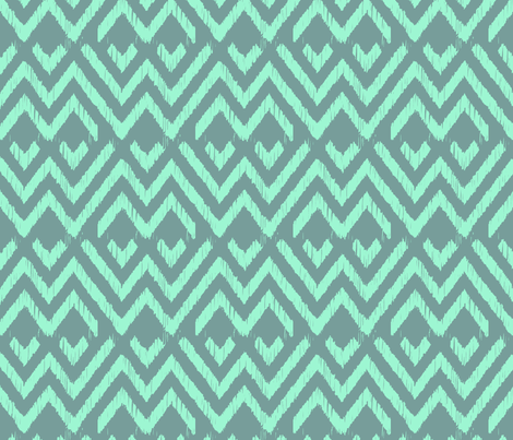 LAGOON ZIGGY  fabric by marcador on Spoonflower - custom fabric