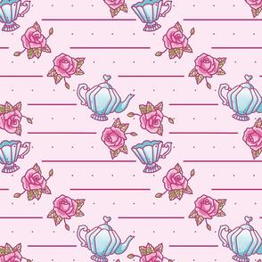 Vintage Rose Teatime Pattern