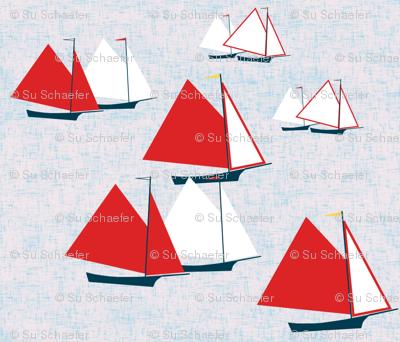 Racing gaff-rigged skiffs by Su_G