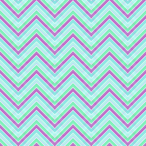 Chevron Plaid! - Spring Seaside Veranda  -  © PinkSodaPop 4ComputerHeaven.com fabric by pinksodapop on Spoonflower - custom fabric
