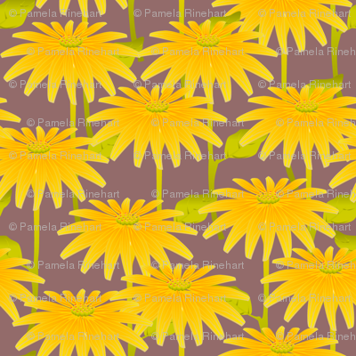 YELLOW FLOWER mauve