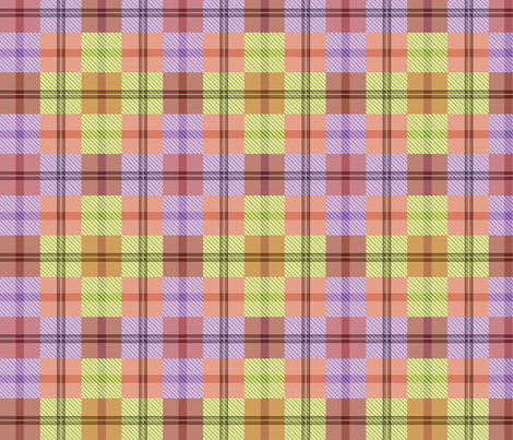 gingham plaid garden tools 2 fabric by glimmericks on Spoonflower - custom fabric