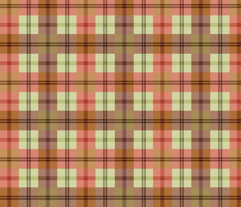 gingham plaid garden tools 3 fabric by glimmericks on Spoonflower - custom fabric
