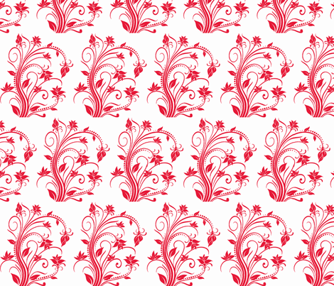 red-flwrs fabric by vos_designs on Spoonflower - custom fabric