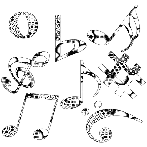 Whimsical Music Notes 4