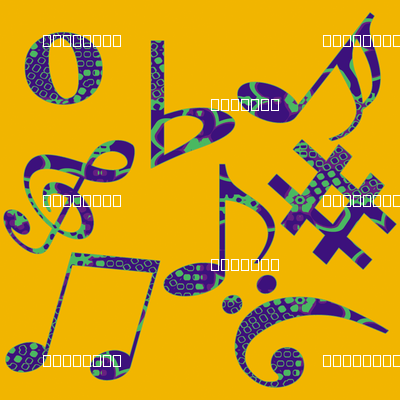 Whimsical Music Notes 7