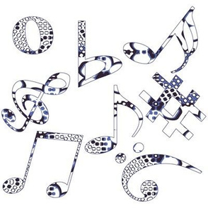 Whimsical Music Notes 8