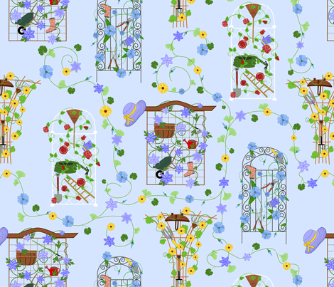 Hidden Garden fabric by blondfish on Spoonflower - custom fabric