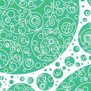 green white green circles