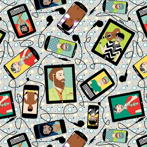 Selfies fabric by shannonkornis on Spoonflower - custom fabric
