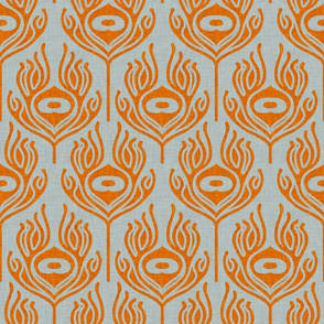 peacock_orange_grey