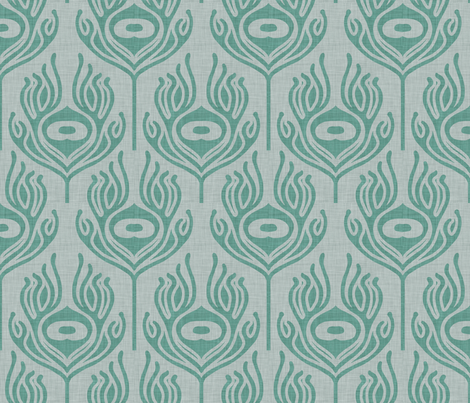 peacock_marine fabric by holli_zollinger on Spoonflower - custom fabric