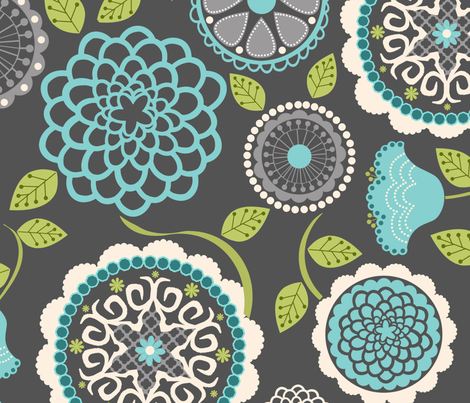 Mums for Mom fabric by natitys on Spoonflower - custom fabric
