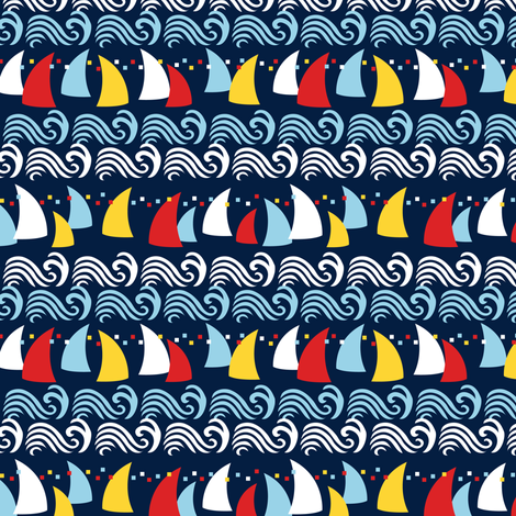 Navy Sailors Delight fabric by dianne_annelli on Spoonflower - custom fabric