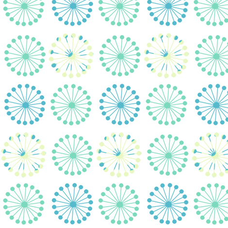 Retrolicious Flowers - Lure - Venture - © PinkSodaPop 4ComputerHeaven.com fabric by pinksodapop on Spoonflower - custom fabric