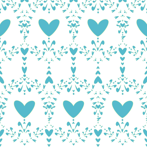 Hearted Damask Steeple - Lure - Venture - © PinkSodaPop 4ComputerHeaven.com fabric by pinksodapop on Spoonflower - custom fabric