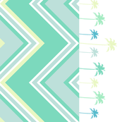 Chevron Border With Palmtrees & Dots! - Lure - Venture - © PinkSodaPop 4ComputerHeaven.com