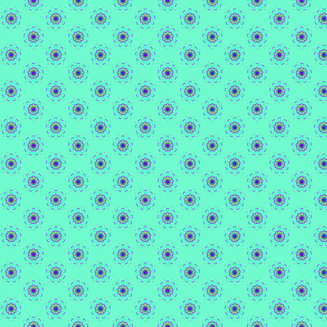 minty circlestars fabric by jellybeanquilter on Spoonflower - custom fabric