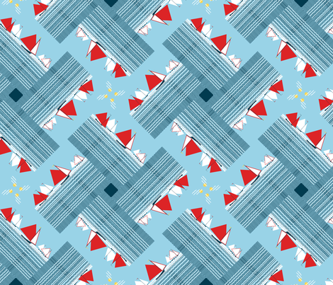 Gaff-rigged skiffs, racing fabric by su_g on Spoonflower - custom fabric