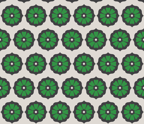 green_mod_flower fabric by holli_zollinger on Spoonflower - custom fabric