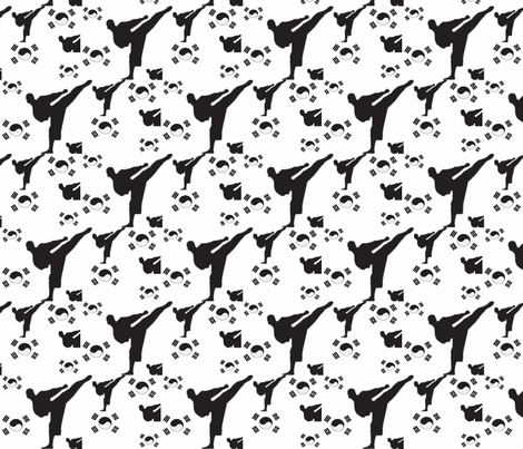 martial__arts black n white fabric by dsa_designs on Spoonflower - custom fabric