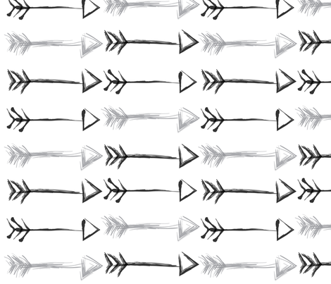 Arrows fabric by crafted on Spoonflower - custom fabric