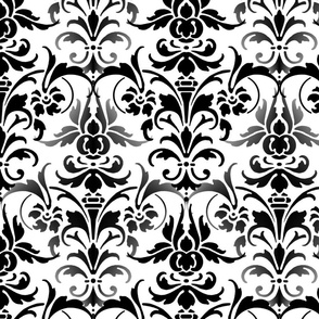 The Eloise Damask ~ Black & White