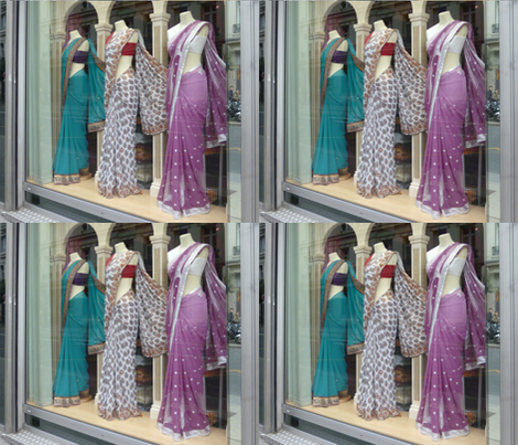 Three Saris in the Window