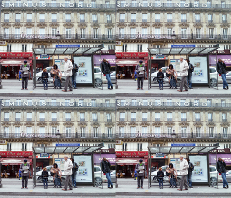 Bus Stop Opposite of Gare du Nord, Paris fabric by susaninparis on Spoonflower - custom fabric