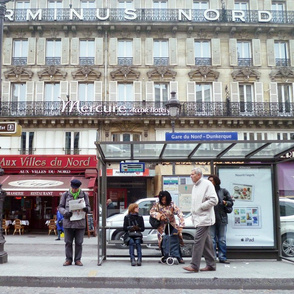 Bus Stop Opposite of Gare du Nord, Paris