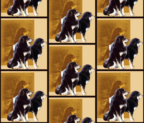 Tibetan Mastiff Guardians fabric by dogdaze_ on Spoonflower - custom fabric