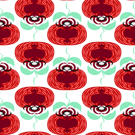 lady-tomato2 fabric by gaiamarfurt on Spoonflower - custom fabric