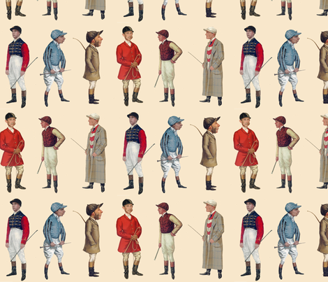The Riders of Vanity Fair fabric by ragan on Spoonflower - custom fabric