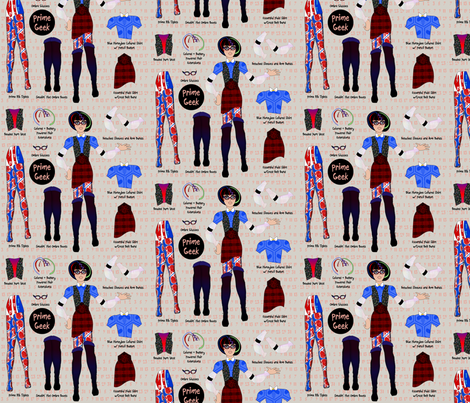 Prime Geek fabric by glimmericks on Spoonflower - custom fabric