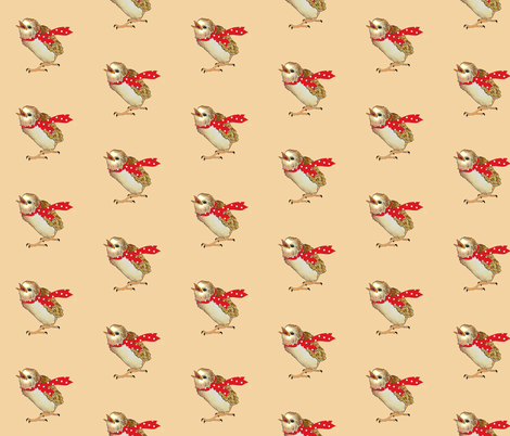 Baby Bird Dot fabric by golders on Spoonflower - custom fabric
