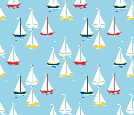 Sailing_along fabric by alfabesi on Spoonflower - custom fabric