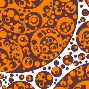 brown orange circles
